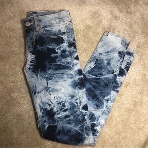 American Eagle tie dye jeans sz 4